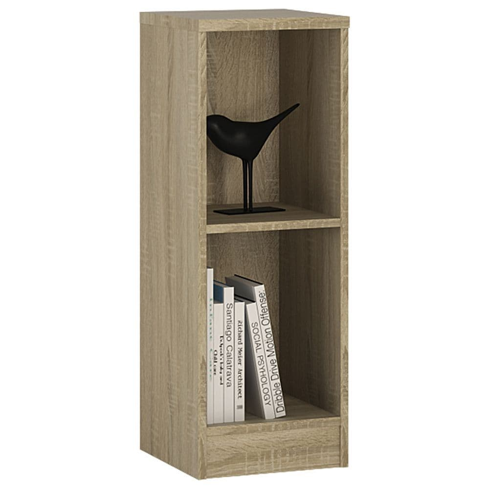 Ibis Low Narrow Bookcase in Sonama Oak